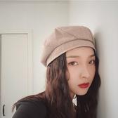 貝雷帽女秋冬英倫日系八角帽甜美可愛畫家帽【聚寶屋】