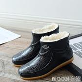 男士雨靴 回力雨鞋男士低幫棉套鞋短筒雨靴柔軟耐磨水靴防滑防水 母親節特惠