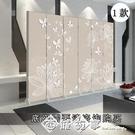 屏風折疊移動簡易折屏隔斷墻客廳裝飾臥室經...