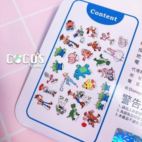 迪士尼貼紙 玩具總動員4 巴斯胡迪三眼火腿豬 顆粒貼紙 貼紙包 裝飾貼紙 100張入 COCOS DB043