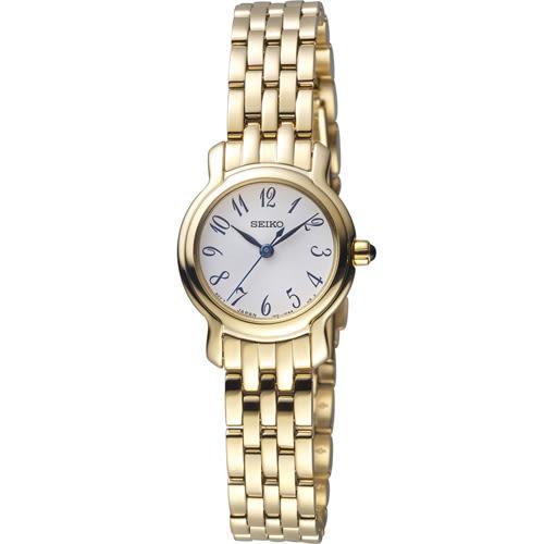 SEIKO 精工 小資完美時尚腕錶 1N01-0SG0G 金 SXGP64P1