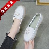 2010春夏新款軟底舒適不累腳護士鞋女透氣防臭平底小白鞋百搭單鞋 快速出貨
