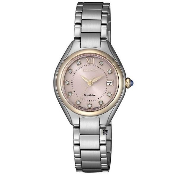CITIZEN 星辰 光動能 晶鑽時尚 手錶 EW2546-87X _26mm
