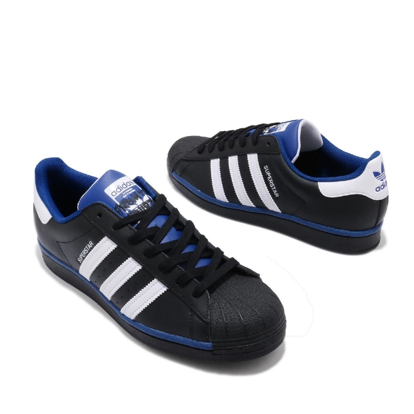 adidas 休閒鞋 Superstar 黑 白 藍 男鞋 女鞋 經典款 貝殼頭 運動鞋 【ACS】 FV4190