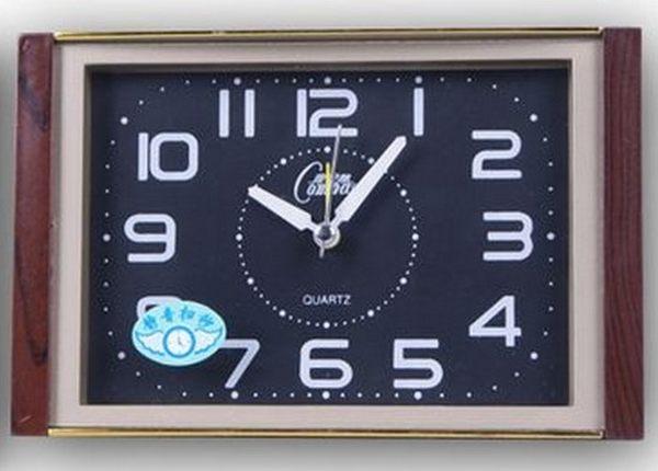 北極星靜音創意簡約時尚方形台式小座鐘老人學生小鬧鐘錶【時尚家居館】