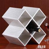 歐式紅酒架擺件 實木家用創意現代簡約客廳葡萄酒瓶柜裝飾置物架zh1174【優品良鋪】