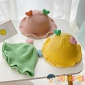 韓國寶寶漁夫帽子時尚女童秋季公主兒童秋冬針織帽【淘嘟嘟】