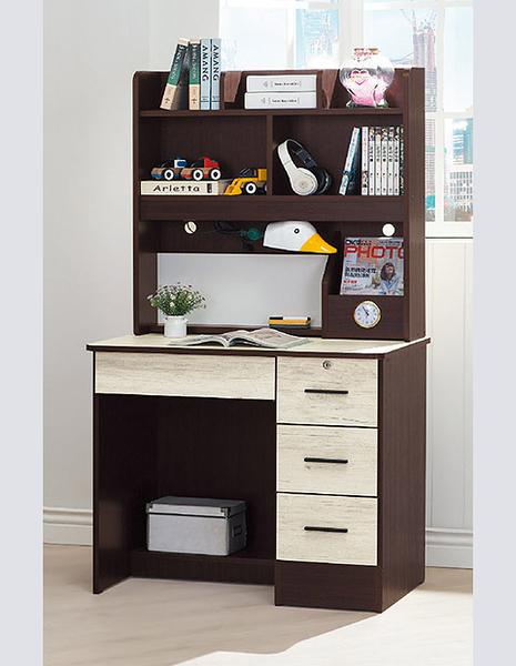 [ 家事達]台灣OA-426-5 胡桃色3尺書桌(117)  特價---已組裝限送中部