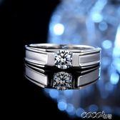 情侶對戒 施洛芙男士鑽戒鑽石個性戒指男情侶對戒純銀時間戒指潮男霸氣 新品