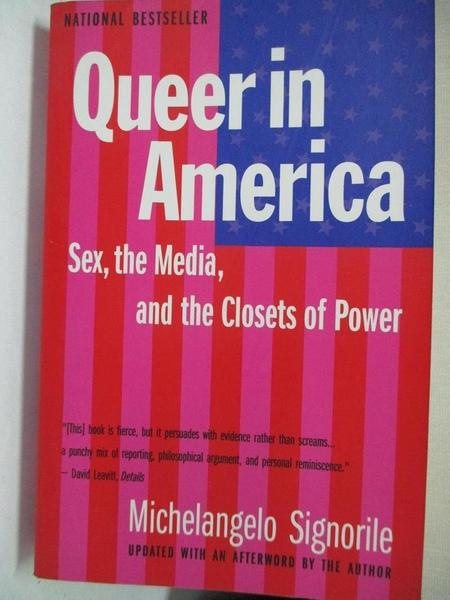 【書寶二手書T1/原文小說_LBU】Queer in America_Michelangelo Signorile