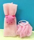 【震撼精品百貨】PostPet_MOMO熊~沐浴巾刷~粉色#06156