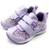 《7+1童鞋》中童 MOONSTAR CARROT 日本月星 機能鞋 運動鞋 慢跑鞋 C443 紫色