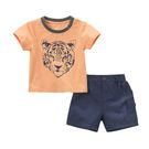 套裝 Dave Bella 短袖上衣+短褲 套裝2件組 - 橘黃手繪老虎 DB5868