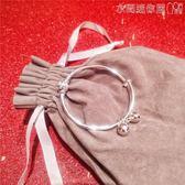 手鐲純銀電鍍轉運珠鈴鐺推拉手鐲女韓版小清新百搭氣質可調節手環 衣間迷你屋