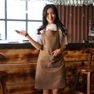 韓版時尚圍裙防水咖啡奶茶店美甲男女餐廳廚師工作服 週年慶降價