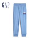 Gap男童棉質Logo鬆緊腰休閒褲540269-舒適藍