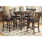 餐桌 SB-37034 安西3.5尺胡桃圓形高腳餐桌 (不含椅子)【大眾家居舘】