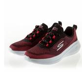 SKECHERS系列-GORUN FAST 女款紅黑色運動慢跑鞋-NO.15106BKHP