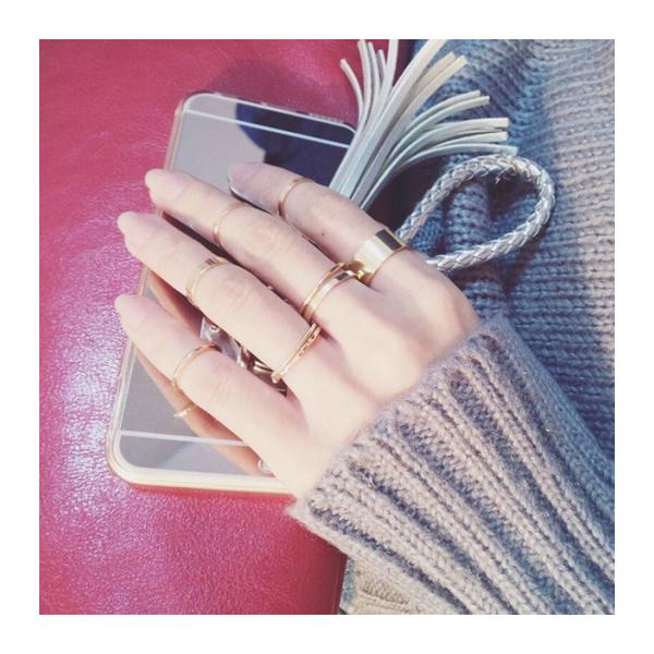 甜美 簡約 潮 指環 十件套 戒指