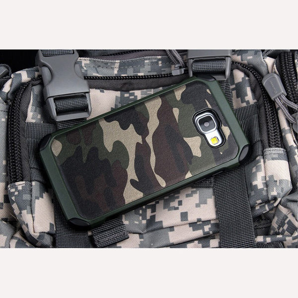 【CHENY】三星SAMSUNG GALAXY S7 edge 迷彩保護殼 防摔殼防撞空壓殼氣墊殼二合一皮質軟膠保護殼