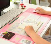 電腦桌墊 辦公桌墊 可愛清新多功能超大電腦墊 PVC防水墊糖果色滑鼠墊 卡菲婭