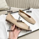 奶奶鞋女平底單鞋女仙女百搭軟皮復古瑪麗珍豆豆鞋【愛物及屋】