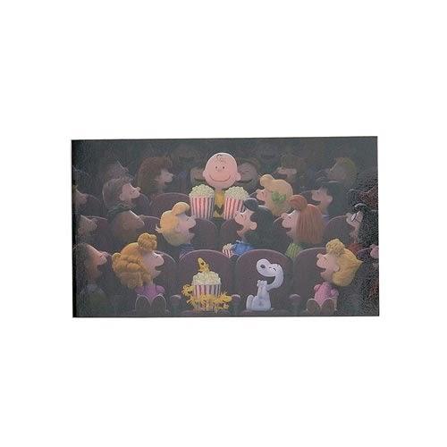 《sun-star》SNOOPY-史努比 The Peanuts Movie系列細長型雙面便條本(趣味電影院)★funbox生活用品★ OP47818