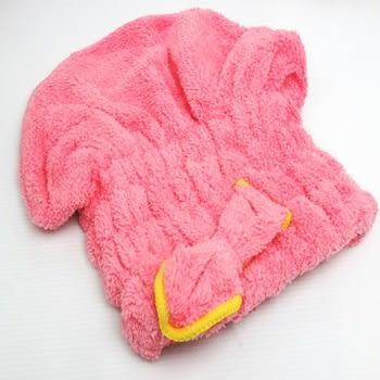 easy 珊瑚絨快速乾髮帽/神奇乾髮帽/超強吸水頭巾/擦頭巾/包頭巾/蝴蝶結浴帽/護髮帽 樂馨生活館