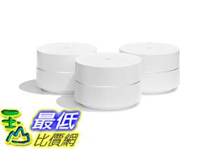 [8美國直購] Google WiFi system, 3-Pack - Router replacement for whole home coverage (NLS-1304-25)
