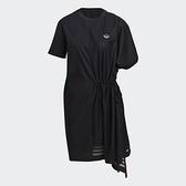 【陸壹捌折後$3080】adidas BELLISTA 連身洋裝 黑 抓皺 女 GN3273