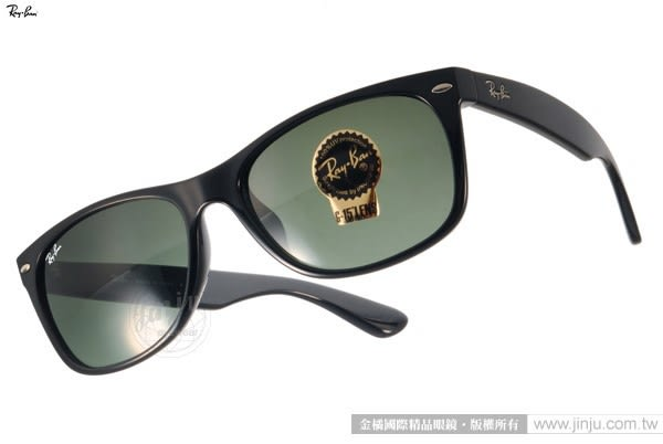 RayBan 太陽眼鏡 RB2132F 901 -58mm (黑色) Wayfarer爆款新品 # 金橘眼鏡