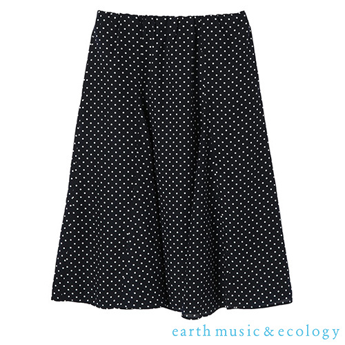 「Hot item」優雅圓點碎花長裙 - earth music&ecology