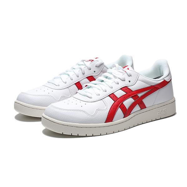 ASICS TIGER 奶油底 白紅 皮革 紅logo 休閒鞋 男(布魯克林) 1191A212100
