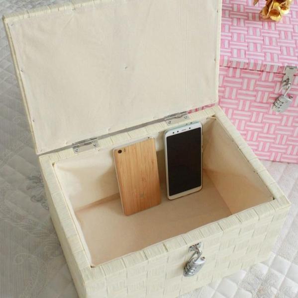 帶鎖收納盒家用柜百寶箱大號整理箱密碼箱子學生宿舍書加鎖儲物箱
