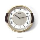 SEIKO精工時鐘 咖金混色雙圈時鐘 柒彩年代【NG35】原廠公司貨