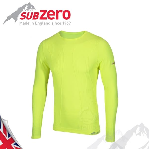 【Sub Zero 英國 Factor1+ 長袖無縫排汗衣《黃》】Factor 1 PLUS/內衣/薄長袖/防曬