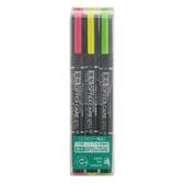[奇奇文具]   ZEBRA WKCR1-3C色組雙頭螢光筆