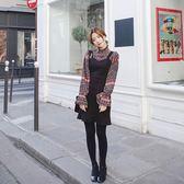 【Hera 赫拉】民族風印花喇叭袖麂皮絨背帶裙套裝