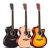 單板民謠吉他初學者學生女男新手入門練習木吉他41寸樂器 傑克傑克館