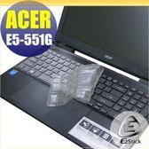 【EZstick】ACER E15 E5-551 E5-551G 系列 專用奈米銀抗菌TPU鍵盤保護膜
