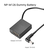 (DC5521接頭) Kingma DR-W126 假電池 模擬電池 dummy battery for Fujifilm NP-W126