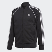 L- adidas 運動外套 Originals SST Track Jacket 黑白 三條線 男款 CW1256