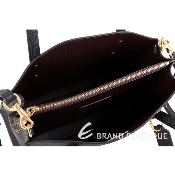 COACH Charlie Carryall 28 金字荔紋皮革手提斜背托特包(黑色) 1910032-01