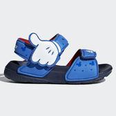 Adidas Sandały Disney Mickey 童鞋 涼鞋 小童 迪士尼 米奇 藍 【運動世界】CQ0107