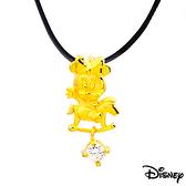 Disney迪士尼金飾 木馬美妮 黃金墜子 送項鍊