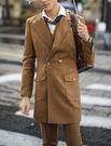 找到自己品牌 韓國男 雙排扣中長款呢料西裝 三件式西裝外套 成套西裝 修身西裝 西裝外套