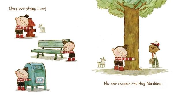 HUG MACHINE/英文書《主題: 幼兒品格教育.情緒管理.分離焦慮時期最佳使用書》【中文:我是抱抱機.】
