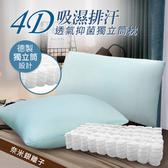 【三浦太郎】4D吸濕排汗。透氣獨立筒枕/枕頭/涼感枕-淺藍