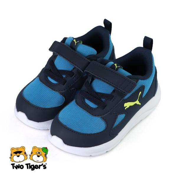 PUMA Fun Racer AC Inf 魔鬼氈 運動鞋 小童鞋 藍色 NO.R6185