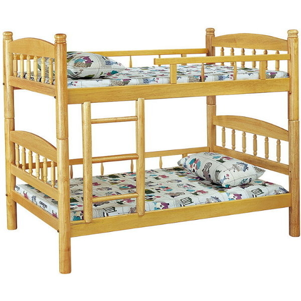 雙層床 FB-599-2 白木3.5尺圓柱雙層床 (不含床墊) 【大眾家居舘】